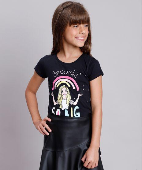 Blusa-Infantil-Barbie--Dream-in-so-big--Manga-Curta--Preta-9757214-Preto_1