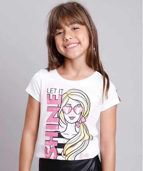 Blusa-Infantil-Barbie--Shine--com-Glitter-Manga-Curta--Off-White-9757213-Off_White_1