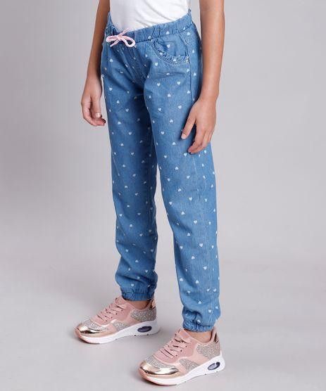 Calca-Jeans-Infantil-Jogger-Estampada-de-Coracao-com-Cordao-e-Babado-Azul-Medio-9892824-Azul_Medio_1
