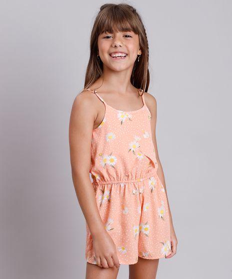 Macaquinho-Infantil-Estampado-Floral-com-Transpasse-Alca-Fina-Laranja-9805637-Laranja_1