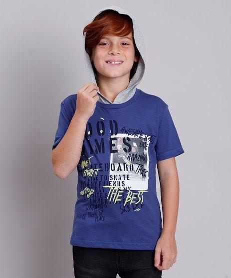 Camiseta-Infantil--Good-Time--com-Capuz-Manga-Curta-Azul-Escuro-9837973-Azul_Escuro_1