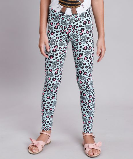 Calca-Legging-Infantil-LOL-Surprise-Estampada-Animal-Print-Onca-Verde-Agua-9827985-Verde_Agua_1