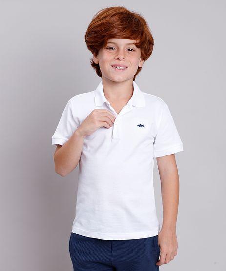 Polo-Infantil-em-Piquet-Basica-Manga-Curta-Branca-8435761-Branco_1