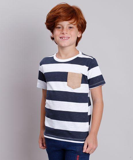 Camiseta-Infantil-Listrada-com-Bolso-Manga-Curta-Branca-9768853-Branco_1