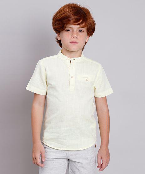 Camisa-Infantil-com-Bolso-Manga-Curta-Gola-Portuguesa-Amarelo-Claro-9671177-Amarelo_Claro_1