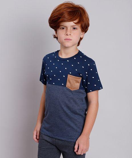 Camiseta-Infantil-com-Recorte-e-Bolso-em-Suede-Manga-Curta-Azul-Marinho-9758289-Azul_Marinho_1