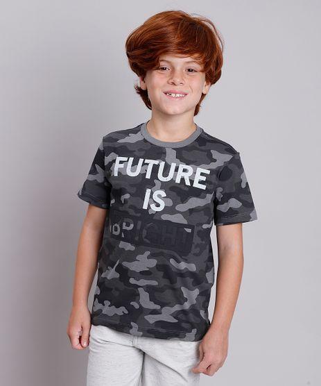Camiseta-Infantil-Estampada-Camuflada--The-Future-is-Bright--Manga-Curta-Chumbo-9838012-Chumbo_1