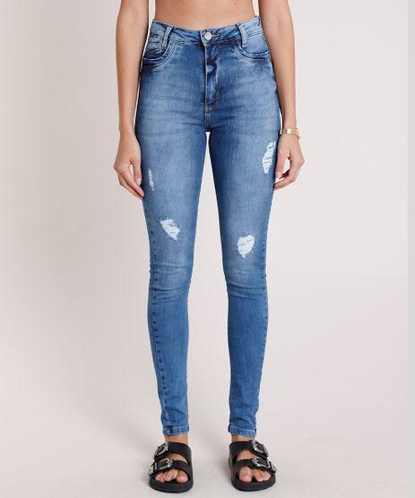 Calca-Jeans-Sawary-Super-Skinny-Push-Up-Cintura-Alta-Destroyed-Azul-Medio-9896002-Azul_Medio_1