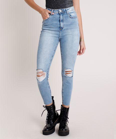 Calca-Jeans-Feminina-Cropped-Cintura-Super-Alta-Destroyed-Azul-Medio-9896255-Azul_Medio_1