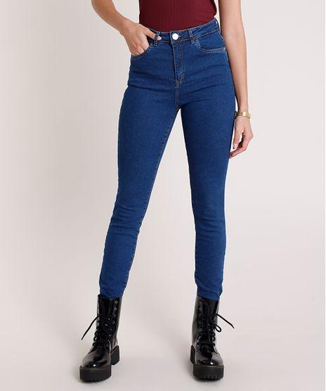 Calca-Jeans-Feminina-Super-Skinny-Cintura-Alta-Azul-Medio-9865438-Azul_Medio_1