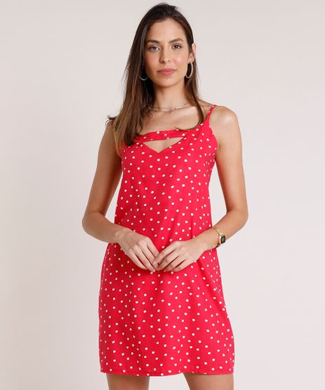 Vestido-Feminino-Curto-Estampado-de-Poa-com-Abertura-Alca-Fina-Rosa-Escuro-9801953-Rosa_Escuro_1