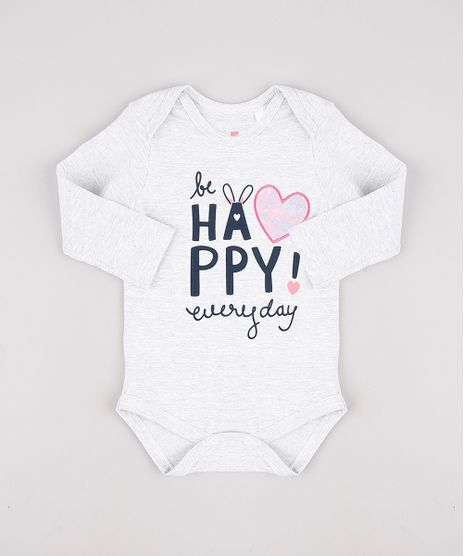 Body-Infantil--Be-Happy-Everyday---Manga-Longa-Cinza-Mescla-Claro-9891691-Cinza_Mescla_Claro_1