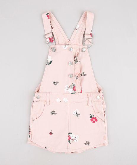 Jardineira-de-Sarja-Infantil-Estampada-Floral--Rose-9892634-Rose_1