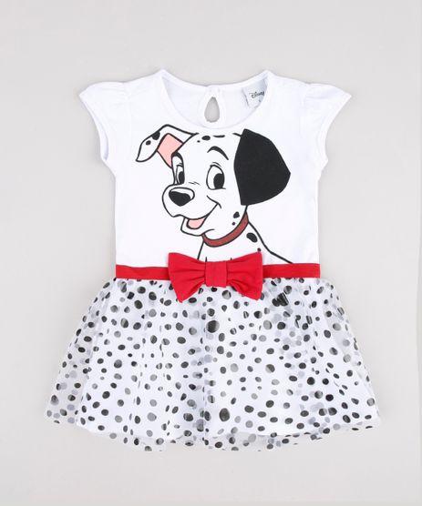Vestido-Infantil-Carnaval-101-Dalmatas-com-Tule-Estampado-de-Poa-Manga-Curta--Branco-9877336-Branco_1