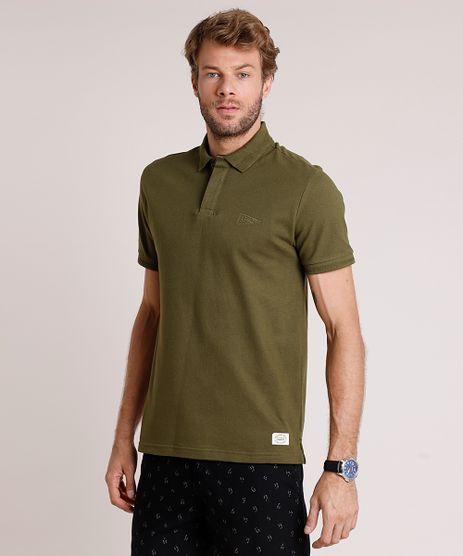 Polo-Masculina-Basica-Comfort-Fit-em-Piquet-Manga-Curta-Verde-Militar-9873705-Verde_Militar_1