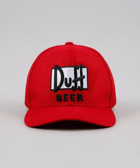 Bone-Masculino-Aba-Curva-Duff-Beer-Os-Simpsons-Vermelho-9567444-Vermelho_1