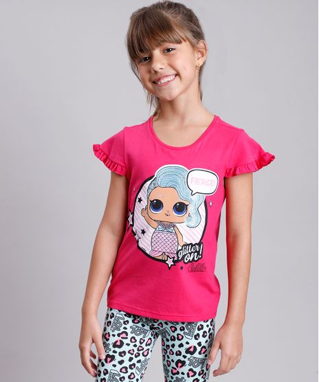 Blusa-Infantil-LOL-Surprise-com-Paete-Manga-Curta--Rosa-Escuro-9812244-Rosa_Escuro_1