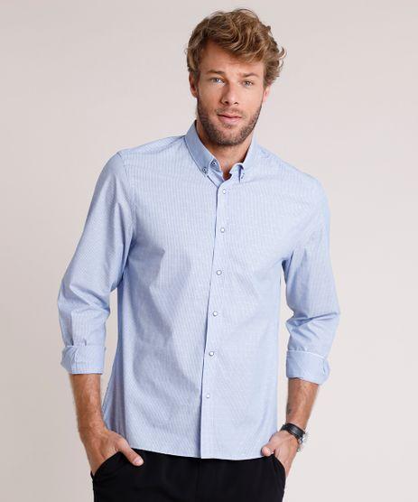 Camisa-Social-Masculina-Tradicional-Listrada-Manga-Longa-Azul-9515018-Azul_1