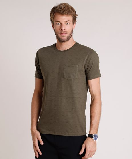 Camiseta-Masculina-Basica-com-Bolso-Manga-Curta-Gola-Careca-Verde-Militar-1-9421866-Verde_Militar_1_1