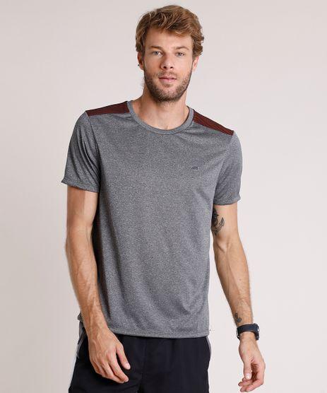 Camiseta-Masculina-Esportiva-Ace-com-Recorte-Manga-Curta-Gola-Careca-Cinza-Mescla-Escuro-9779557-Cinza_Mescla_Escuro_1