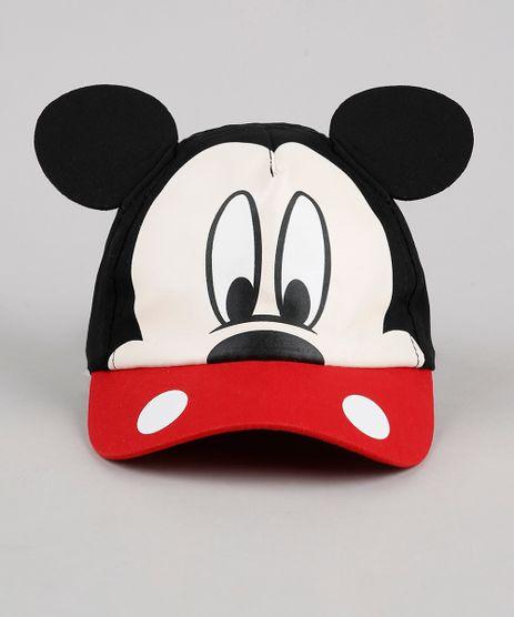 Bone-Infantil-Aba-Curva-Mickey-com-Orelhas-Preto-9888497-Preto_1