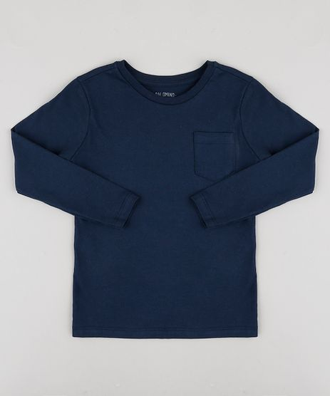 Camiseta-Infantil-Basica-com-Bolso-Manga-Longa-Azul-Marinho-9933739-Azul_Marinho_1