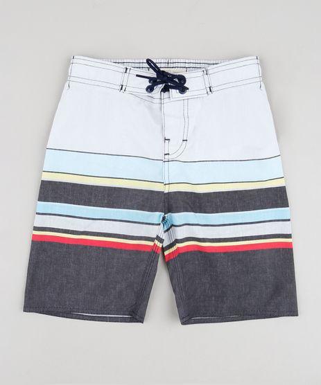 Bermuda-Surf-Infantil-Listrado-Cinza-9728402-Cinza_1