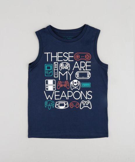 Regata-Infantil--Weapons--Videogame-Azul-Marinho-9883617-Azul_Marinho_1