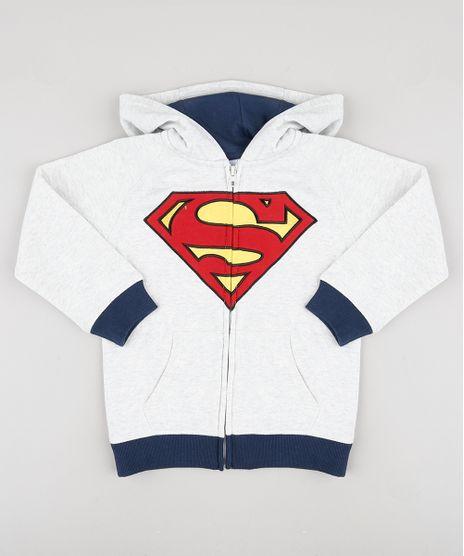 Blusao-Infantil-Super-Homem-em-Moletom-com-Capuz--Cinza-Mescla-Claro-9794020-Cinza_Mescla_Claro_1