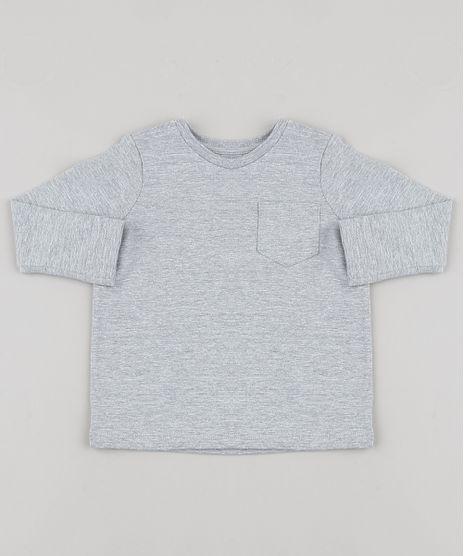 Camiseta-Infantil-Basica-com-Bolso-Manga-Longa-Cinza-Mescla-9429787-Cinza_Mescla_1