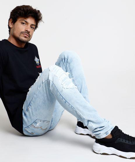 Calca-Jeans-Masculina-Skinny-Destroyed-Azul-Claro-9859788-Azul_Claro_1
