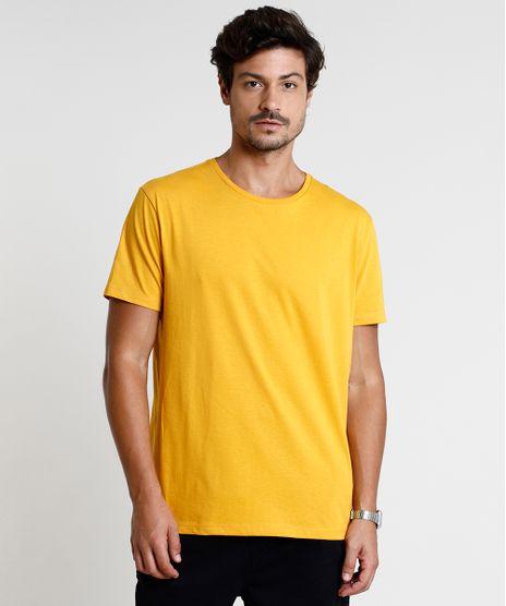 Camiseta-Masculina-Basica-Manga-Curta-Gola-Careca-Mostarda-8472740-Mostarda_1