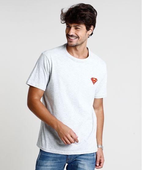 Camiseta-Masculina-Super-Homem-Manga-Curta-Gola-Careca-Cinza-Mescla-Claro-9847678-Cinza_Mescla_Claro_1