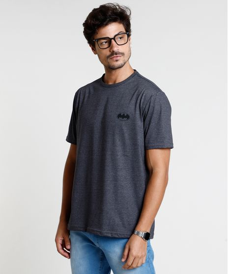 Camiseta-Masculina-Batman-Manga-Curta-Gola-Careca-Cinza-Mescla-Escuro-9847677-Cinza_Mescla_Escuro_1