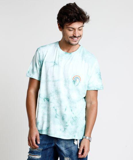 Camiseta-Masculina-Estampada-Tie-Dye-Manga-Curta-Gola-Careca-Verde-Claro-9848209-Verde_Claro_1