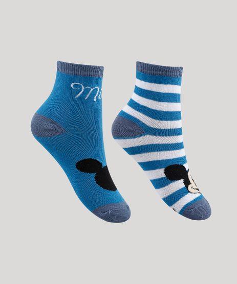 Kit-de-2-Meias-Infantis-Cano-Medio-Mickey-Azul-9339582-Azul_1