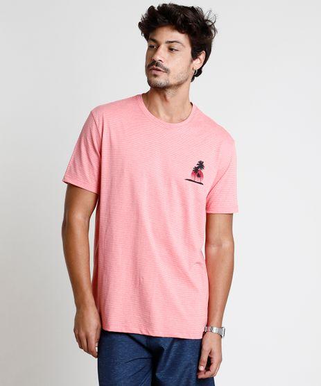 Camiseta-Masculina-Listrada-Manga-Curta-Gola-Careca-Coral-9888734-Coral_1