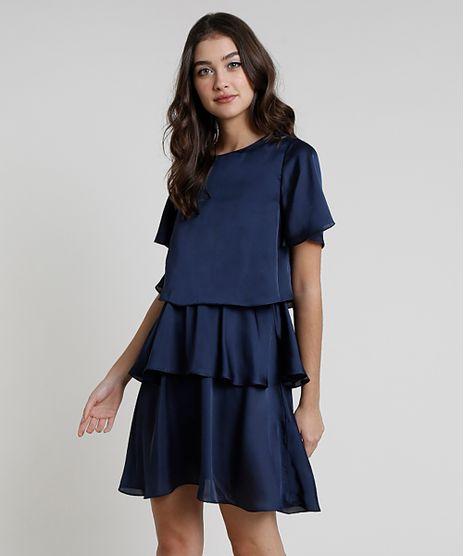 Vestido-Feminino-Mindset-Curto-em-Camadas-Manga-Curta-Azul-Marinho-9901899-Azul_Marinho_1