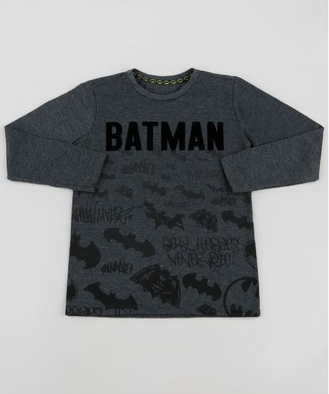 Camiseta-Infantil-Batman-Manga-Longa-Cinza-Mescla-Claro-9532763-Cinza_Mescla_Claro_1
