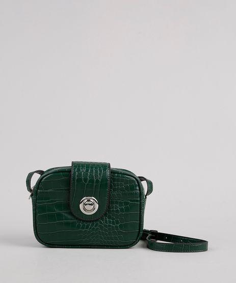 Bolsa-Feminina-Transversal-Pequena-Croco--Verde-Escuro-9505299-Verde_Escuro_1