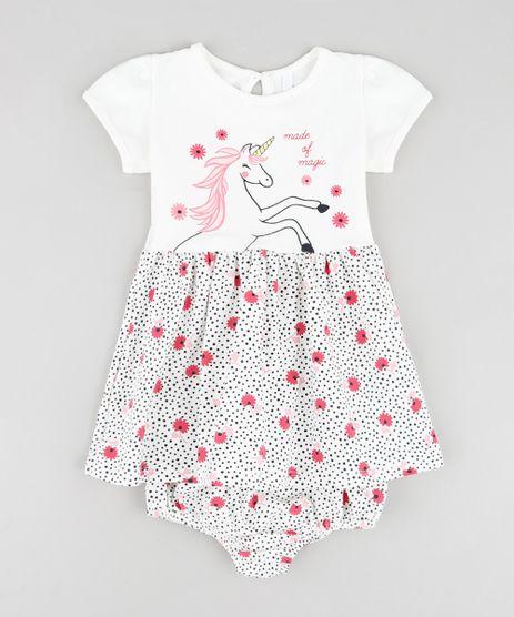 Vestido-Infantil-Unicornio-Estampado-Floral-Manga-Curta---Calcinha--Off-White-9858155-Off_White_1