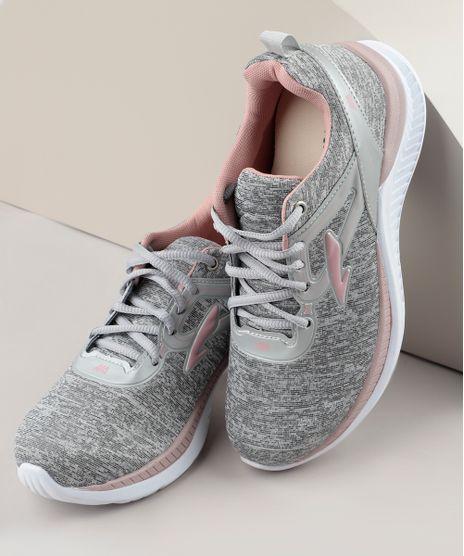 Tenis-Feminino-Esportivo-Ace-Running-com-Recortes-Cinza-Mescla-Claro-9726052-Cinza_Mescla_Claro_1
