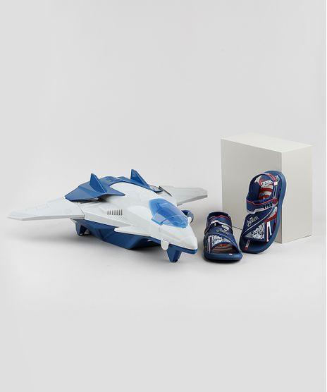 Papete-Infantil-Grendene-Os-Vingadores-Vem-Com-Nave-Quinjet--Azul-Marinho-9795238-Azul_Marinho_1
