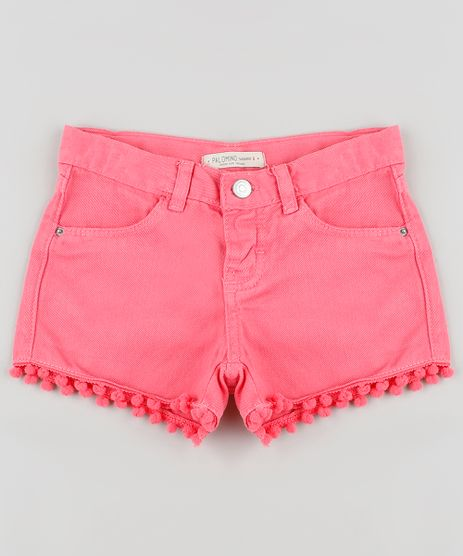 Short-de-Sarja-Infantil-com-Pompom-Rosa-9906889-Rosa_1