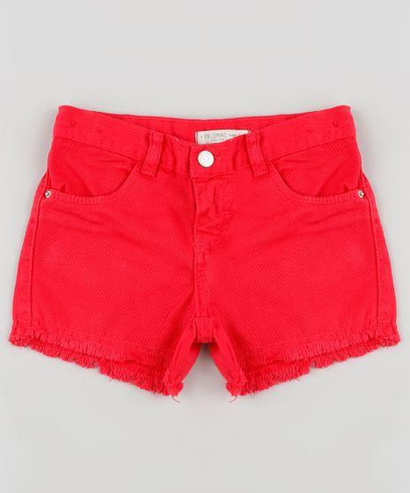 Short-de-Sarja-Infantil-com-Barra-Desfiada-Vermelho-9895596-Vermelho_1