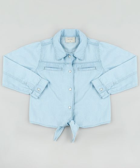 Camisa-Jeans-Infantil-com-Amarracao-Manga-Longa-Azul-Claro-9892628-Azul_Claro_1