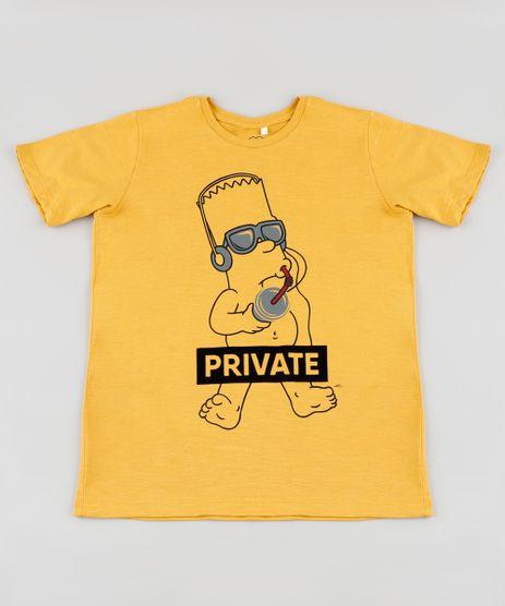 Camiseta-Infantil-Bart-Os-Simpsons-Manga-Curta--Mostarda-9885297-Mostarda_1