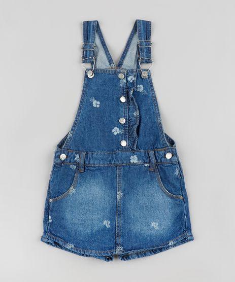 Jardineira-Short-Saia-Jeans-Infantil-Estampada-Floral-Azul-Escuro-9892630-Azul_Escuro_1