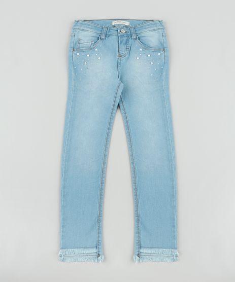 Calca-Jeans-Infantil-com-Perola-e-Strass-Barra-Desfiada-Azul-Claro-9892637-Azul_Claro_1