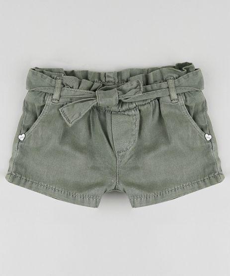 Short-de-Sarja-Infantil-Clochard-com-Faixa-Verde-Militar-9894180-Verde_Militar_1